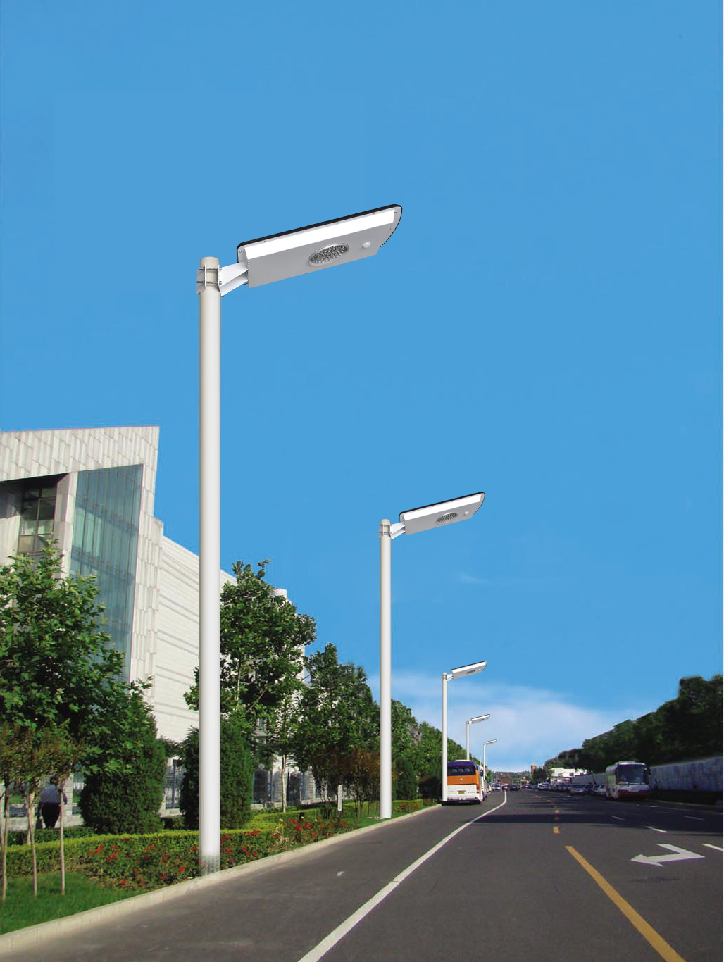 10 Watt Solar Street Light with Cell Phone Controls